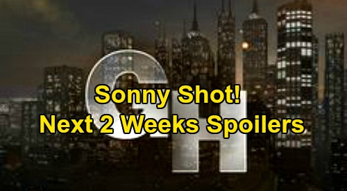 General Hospital Spoilers Next 2 Weeks: Metro Court Hostage Crisis – Sonny Shot, Fights for Life – Morgan Death Brings Carly's Blame
