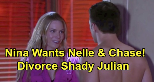 General Hospital Spoilers: Nina Wants Nelle & Chase Together, Divorce Shady Julian – Roots for Daughter to Win Back Heart's Desire?