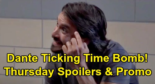 General Hospital Spoilers: Thursday, August 6 – Dante's Ticking Time Bomb – Maxie & Lucy's Deception Drama – Cyrus Visits Brando