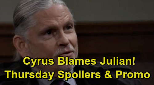 General Hospital Spoilers: Thursday, December 3 – Cyrus Blames Julian – Laura's Lie Exposed – Martin Gets a Suspicious Request
