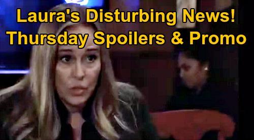 General Hospital Spoilers: Thursday, November 19 – Ava Begs Julian to Flee PC – Laura's Disturbing News for Scott– Sam Needs Jason's Help