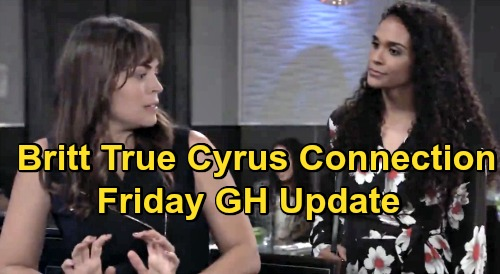 General Hospital Spoilers Update: Friday, October 23 – Britt's True Cyrus Connection – Phyllis Caulfield Deal – Trina Confronts Cam