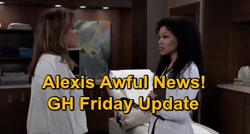 General Hospital Spoilers Update: Friday, September 18 – Cyrus Infuriates Sam – Alexis' Osteoporosis – Nina Missing Child Link