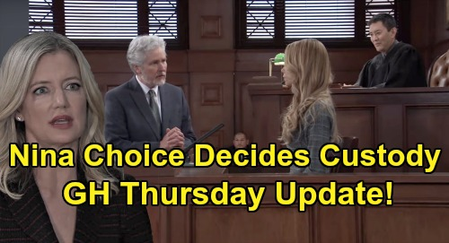 General Hospital Spoilers Update: Thursday, May 21 – Nina's Choice Decides Custody - Pregnancy News - Sasha Drugs Out