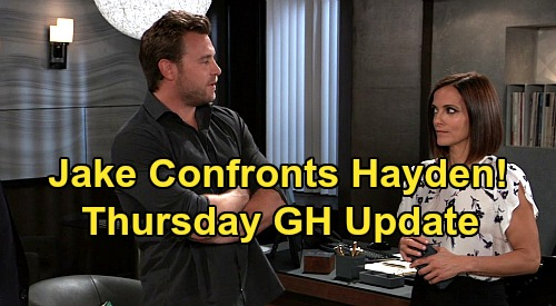 General Hospital Spoilers Update: Thursday, May 28 – Maxie's Wardrobe Malfunction, Nathan's Secret Plan – Jake Confronts Lying Hayden