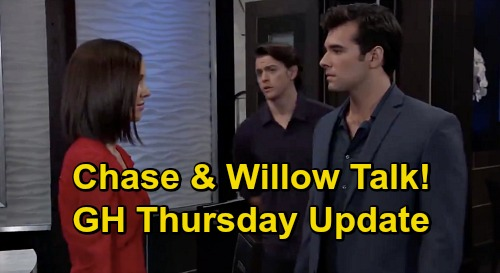 General Hospital Spoilers Update: Thursday, October 22 – Mike's Will News – Chase & Willow Can't Go Back - Valentin Grim Warning