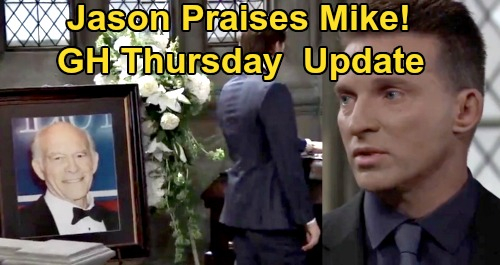 General Hospital Spoilers Update: Thursday, October 8 – Dante's First Day Home – Final Mike Goodbye, Jason Praises Brave Fighter