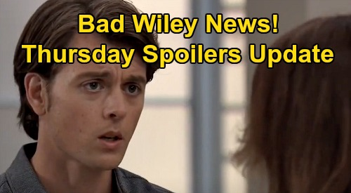 General Hospital Spoilers Update: Thursday, September 24 – Michael's Bad Wiley News – Sonny Fumes Over Carly & Jax's Cover-up