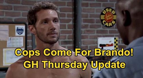 General Hospital Spoilers Update: Thursday, September 3 – Dante Visit Trouble – Cops After Brando – Spinelli Mission Accomplished