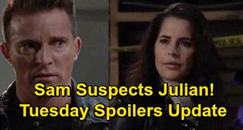 General Hospital Spoilers Update: Tuesday, November 24 – Sam Suspects Julian – Sonny's Revenge – Carly Comforts Brando Over Dev
