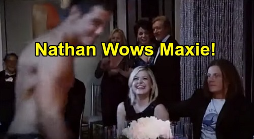 General Hospital Spoilers Update: Wednesday, May 27 – Shirtless Nathan Flusters Maxie – Spencer Steals Spotlight – Mac's Friend 'Murdered'