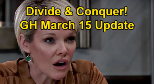 General Hospital Spoilers Update: Monday, March 15 – Ava's Nina Strategy – Jason Saves Anna – Maxie Needs Peter Protection