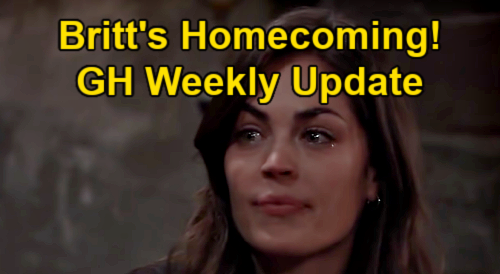 General Hospital Spoilers Update: Week of May 31 – Britt's Homecoming – Curtis' Scary Portia Phone Call – Bloody Peter Answers