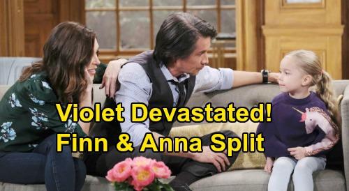 General Hospital Spoilers: Violet Devastated After Anna & Finn's Break Up - Poor Child Loses Both Hayden & Surrogate Mom