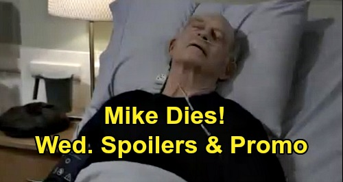 General Hospital Spoilers: Wednesday, September 16 – Mike Dies with Sonny's Permission – Michael's Confession Pulls Willow Closer