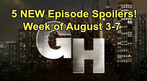 General Hospital Spoilers: Week of August 3 – Five NEW Episodes, Major Story Details – See What Happens During GH First Week Back