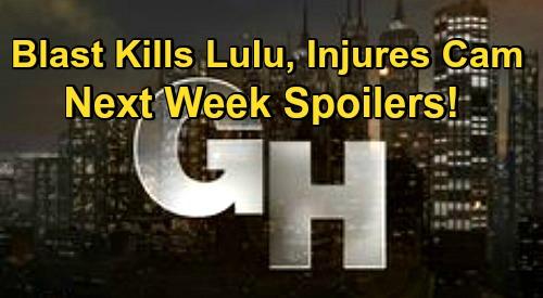 General Hospital Spoilers: Week of November 23 – Explosion Kills Lulu, Injures Cam - Thanksgiving Preemption Schedule