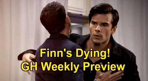 General Hospital Spoilers: Week of November 9 Preview - Portia Fights to Save Dying Finn - Franco Spills Brain Tumor to Liz - Sasha Drug Binge