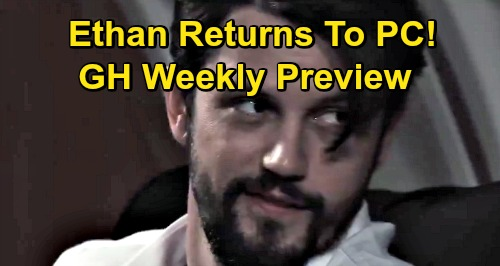 General Hospital Spoilers: Week of September 21 Preview - Ethan Returns To PC - Nina Quizzes Ava About Nik - Ned Decks Valentin