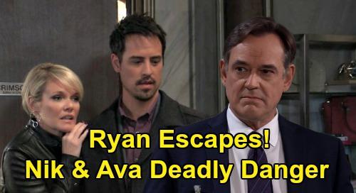 General Hospital Spoilers: Will Nelle Sends Ryan Nik & Ava Pics - Serial Killer Escapes Pentonville, Comes For Revenge?