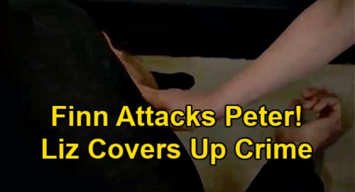 General Hospital Spoilers: Finn Attacks Peter, Showdown Brings Staircase Tumble – Liz Covers Up Crime?