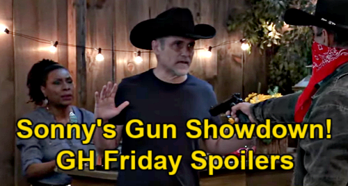 General Hospital Spoilers: Friday, April 23 – Carly Defends Jason Stabbing - Sonny's Gunman Showdown - Wounded Jax Rushed to ER