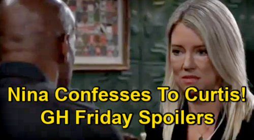 General Hospital Spoilers: Friday, January 22 – Carly's Pendant Freak-Out – Nina Confesses to Curtis – Liz Warns Jason