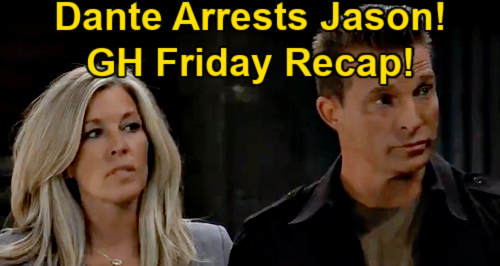 General Hospital Spoilers: Friday, May 28 Recap – Jason Arrested – Cyrus' Gunshot Wound – Chloe Falls in Maxie's Trap