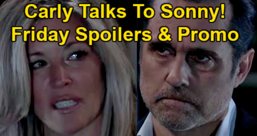 General Hospital Spoilers: Friday, May 7 – Carly Talks to Sonny – Dante Arrests Sam - Peter Suspects Maxie's Secret Guest