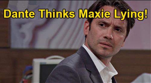 General Hospital Spoilers: Monday June 7 Sneak Peek - Dante Doubts Maxies' Baby Kidnapping Story