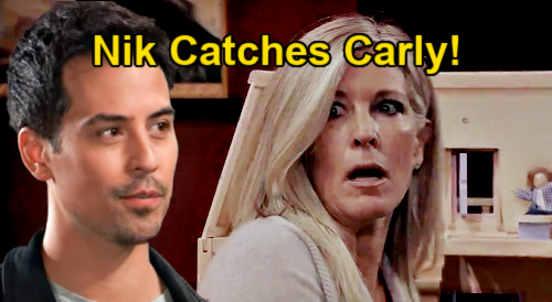 General Hospital Spoilers: Nikolas Catches Carly Swiping Avery's Necklace - Seeks Laura's Advice