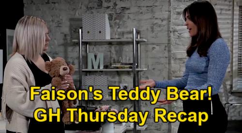 General Hospital Spoilers: Thursday, April 1 Recap – Jason Gives Jake His Word – Faison's Teddy Bear - Elijah Digs for Nina Info