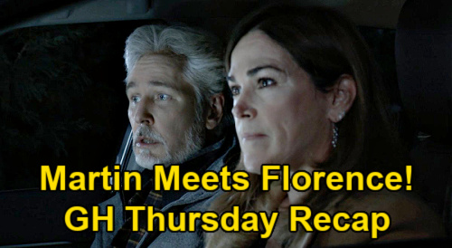 General Hospital Spoilers: Thursday, February 25 Recap - Martin & Jackie Visit Florence - Ryan's Spencer Letter - Heather Reaches Out