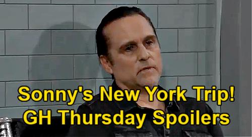 General Hospital Spoilers: Thursday, July 15 – Sonny's Risky New York Trip – Carly & Gladys' Showdown – Maxie's News for Sasha