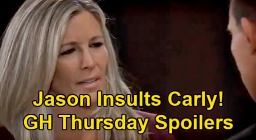 General Hospital Spoilers: Thursday, June 24 – Jason Insults Carly - Britt Fears She's Fired - Chase's Paralysis Stops Willow