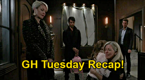 General Hospital Spoilers: Tuesday, January 12 Recap - Ava Takes Avery Home - Sonny Sweet Talks Cop - Trina's Food For Thought