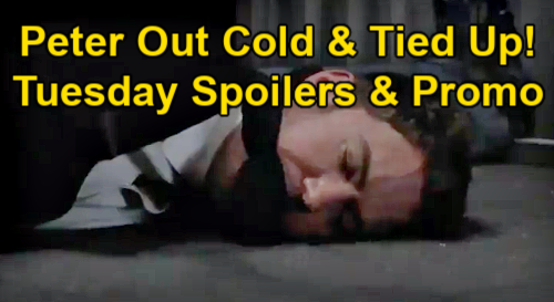 General Hospital Spoilers: Tuesday, March 2 – Peter Unconscious & Tied Up – Maxie Panics Over Missing Groom – Dante's Discovery