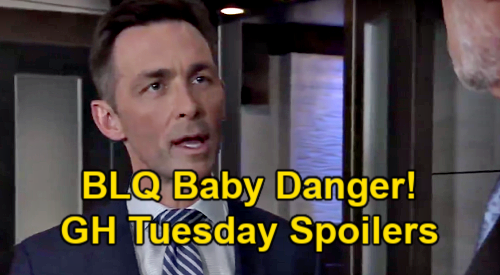 General Hospital Spoilers: Tuesday, March 23 Update – BLQ Baby Danger - Sonny's Mystery Blonde Mixup – Ava Helps in Nina Hunt