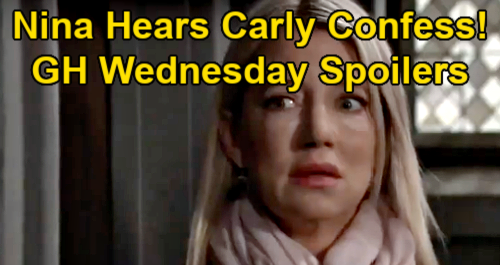 General Hospital Spoilers Wednesday February 10 Cop Steals Sonny S Fingerprints Nina Hears Carly S Nelle Death Confession Celeb Dirty Laundry