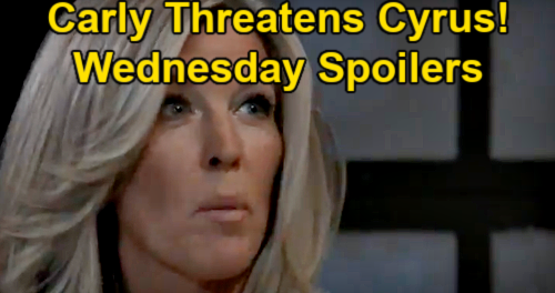 General Hospital Spoilers: Wednesday, May 5 – Carly Calling the Shots, Threatens Cyrus – Jason Grateful to Britt - Dante Steps Up For Sam