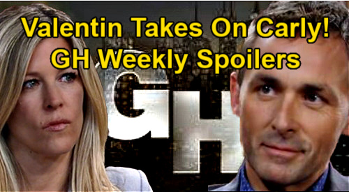 General Hospital Spoilers: Week of January 25 – Valentin & Carly Faceoff – Alexis' Hospital Crisis – Trouble For Sonny