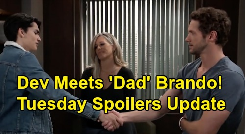General Hospital Spoilers: Monday, February 10 Recap - Spinelli's Staying In PC - Dev Meets 'Dad' Brando - Peter Spies On Anna & Robert
