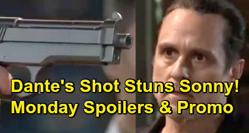 General Hospital Spoilers: Monday, March 18 – Dante's Gunshot Stuns Sonny – Alex and Anna Face Off – Confused Mike's Outburst