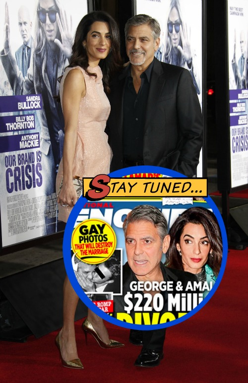 George Clooney Divorce: Amal Alamuddin's Pals Urge Break Up After Photos of Actor Kissing Another Man Pop Up?