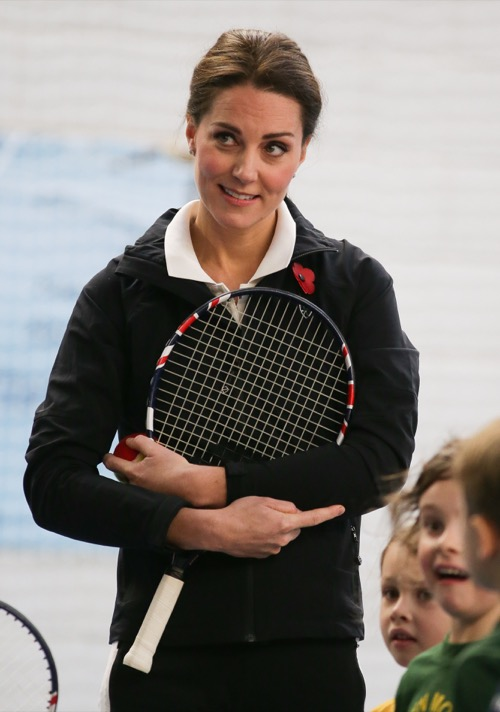 Pregnant Kate Middleton Plays Tennis During Solo Appearance: No More Severe Morning Sickness