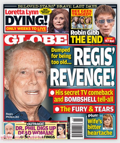 Globe: Regis Philbin's Shocking Plan For Revenge (Photo)