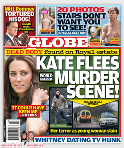 Horrified Kate Middleton Flees Murder Scene (Photo)