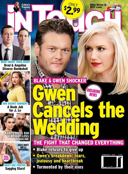 Gwen Stefani and Blake Shelton Wedding Off: Miranda Lambert and Gavin Rossdale to Blame?