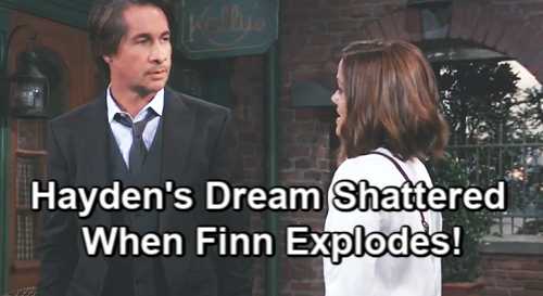 General Hospital Spoilers: Finn Explodes Over Hayden's Dead Daughter Lie - Dream Family Reunion Turns Into Nightmare