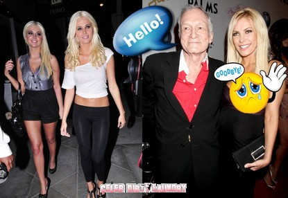 Hugh Hefner Consoles Himself With The Shannon Twins